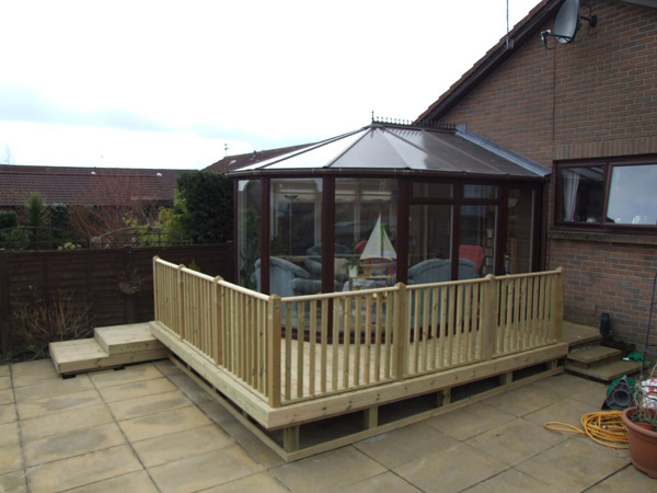 Another view of the decking area